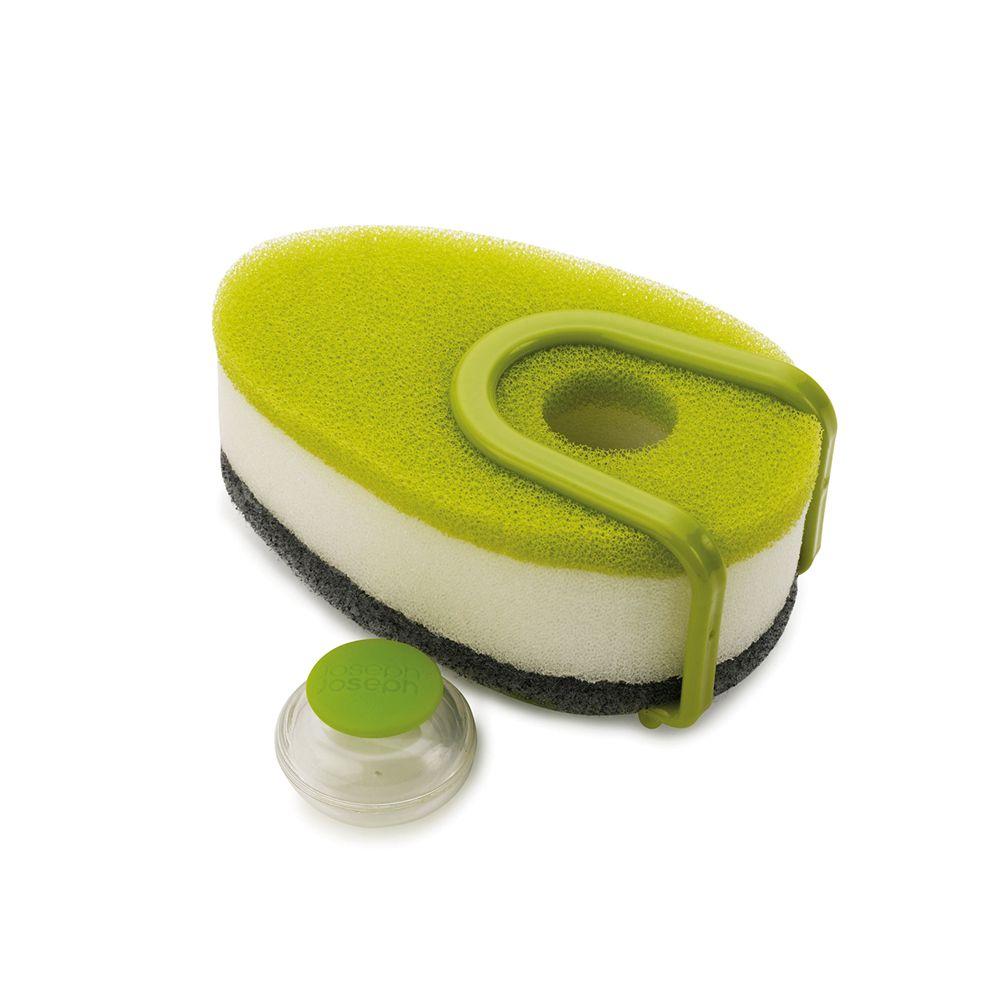 泡泡洗碗綿三件組-附架(Green)-Top