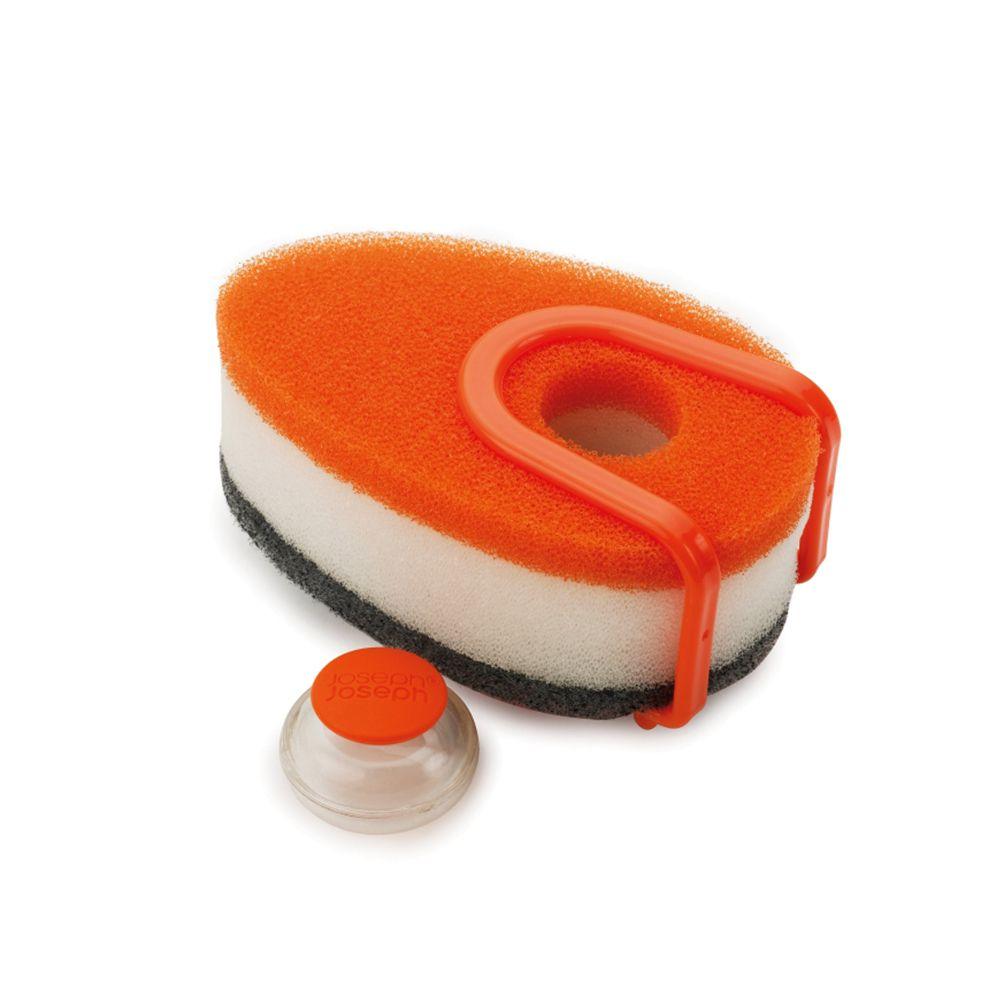 泡泡洗碗綿三件組-附架(Orange)-Top