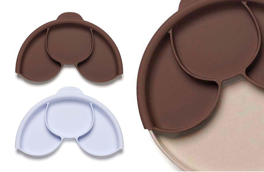 美國 BONNSU miniware 天然寶貝碗 聰明矽膠分隔盤
