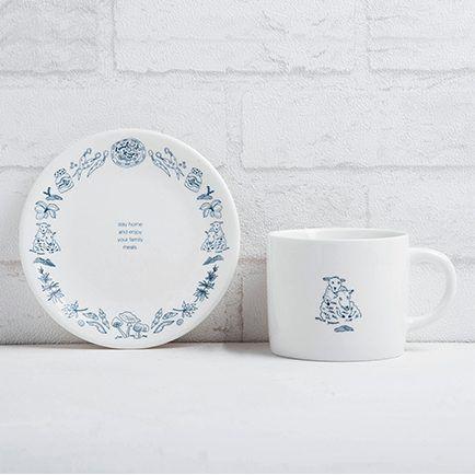 FMT 我的菜 美感家居【單身幸福】午茶杯盤組 - 綿羊媽媽