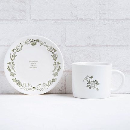 FMT 我的菜 美感家居【單身幸福】午茶杯盤組 - 松鼠與鳥