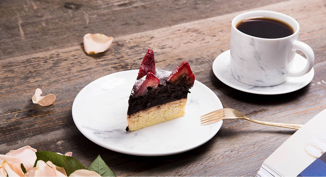 FMT 我的菜 美感家居【純淨午茶】大理石紋午茶杯盤組