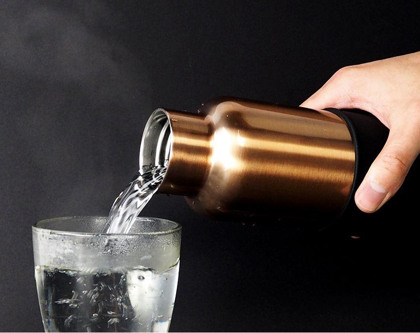 美國 HYDY 時尚不鏽鋼保溫水瓶 開口