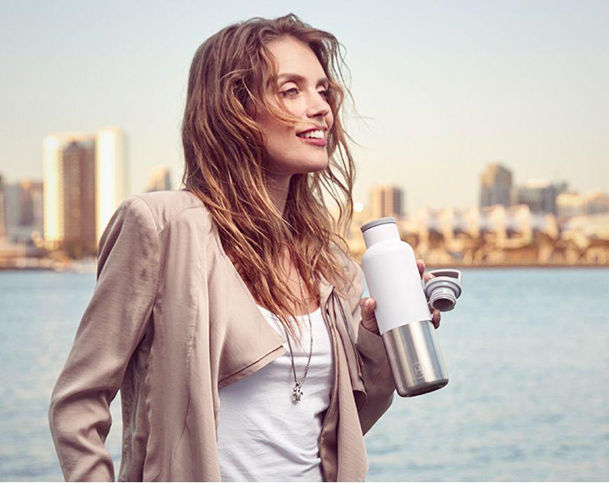 美國 HYDY 時尚不鏽鋼保溫水瓶