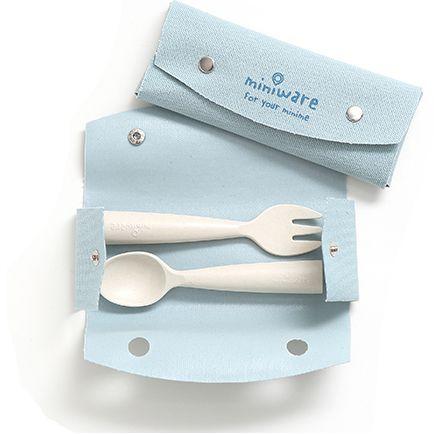 美國 BONNSU miniware 天然寶貝碗 叉匙餐具