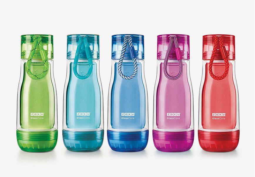 美國 ZOKU 繽紛玻璃雙層隨身瓶