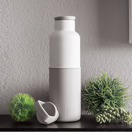 美國 HYDY 時尚不鏽鋼保溫水瓶 白瓶系列