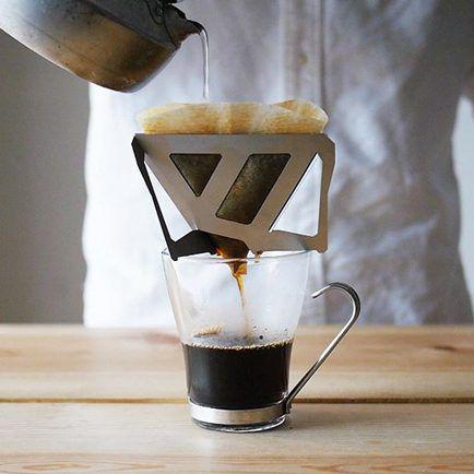日本 MUNIEQ Tetra Drip 攜帶型濾泡咖啡架 一次可沖1.5杯