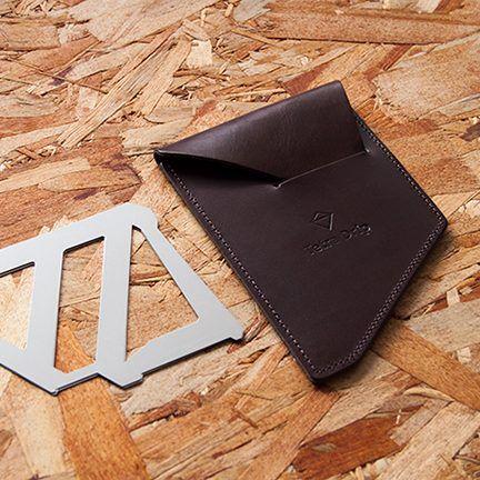 日本 MUNIEQ Tetra Drip 攜帶型濾泡咖啡架 專用皮革套