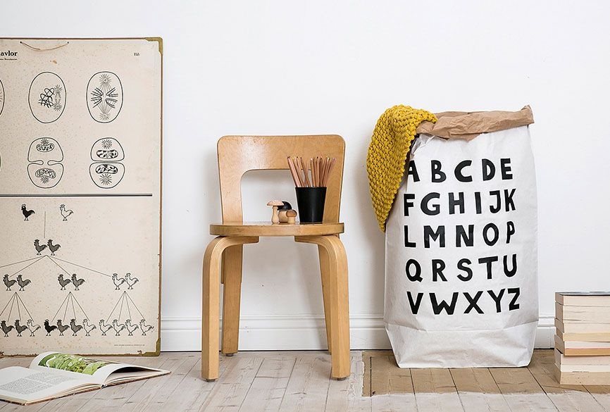 瑞典 TELLKIDDO 可愛圖案牛皮紙收納袋
