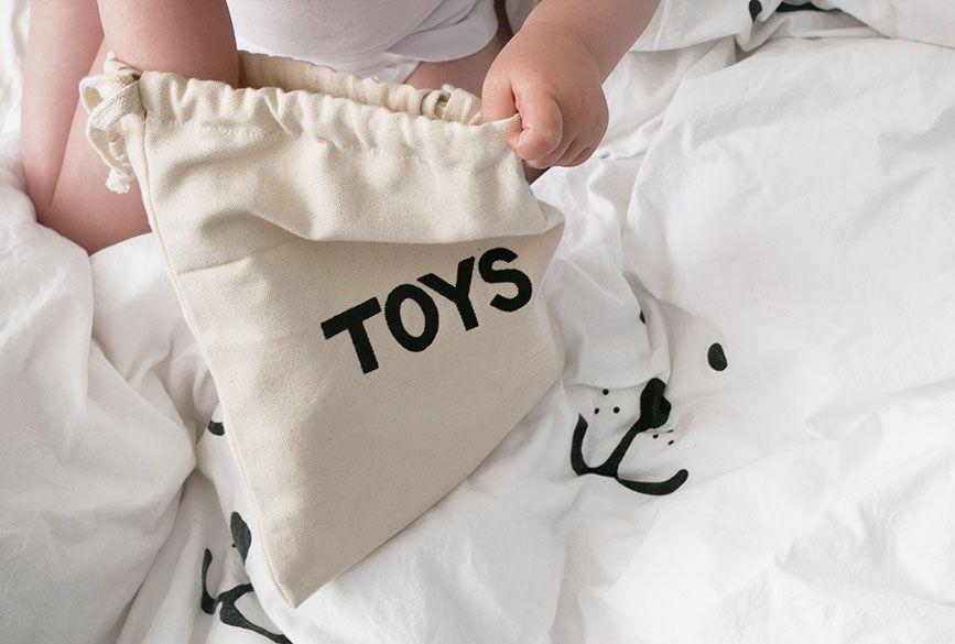 瑞典 TELLKIDDO 可愛圖案100%純棉帆布收納袋