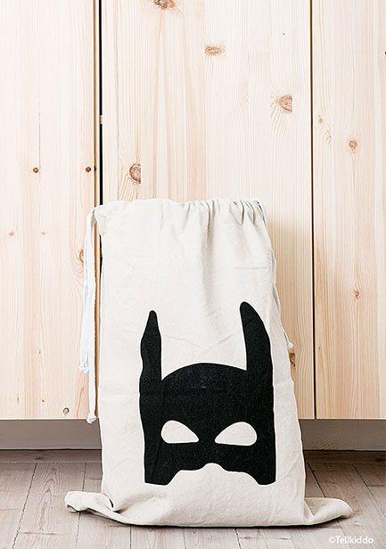 瑞典 TELLKIDDO 可愛圖案100%純棉帆布收納袋 超級英雄