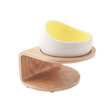 y時空膠囊碗-蛋黃色原木
