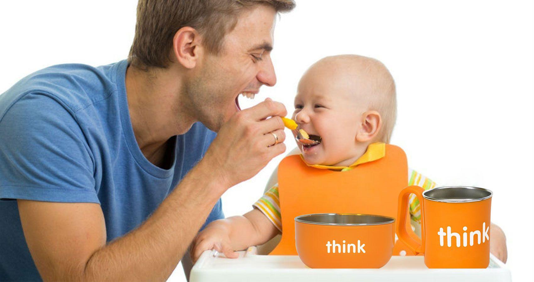 美國 thinkbaby 兒童無毒不鏽鋼餐具