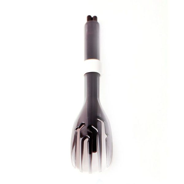 3合1黑檀木環保餐具筷叉匙組-潑墨黑叉