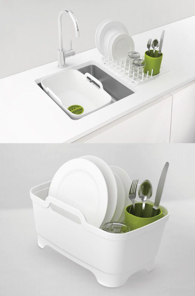 Joseph Joseph 好輕鬆省水洗碗槽Plus(綠白)3