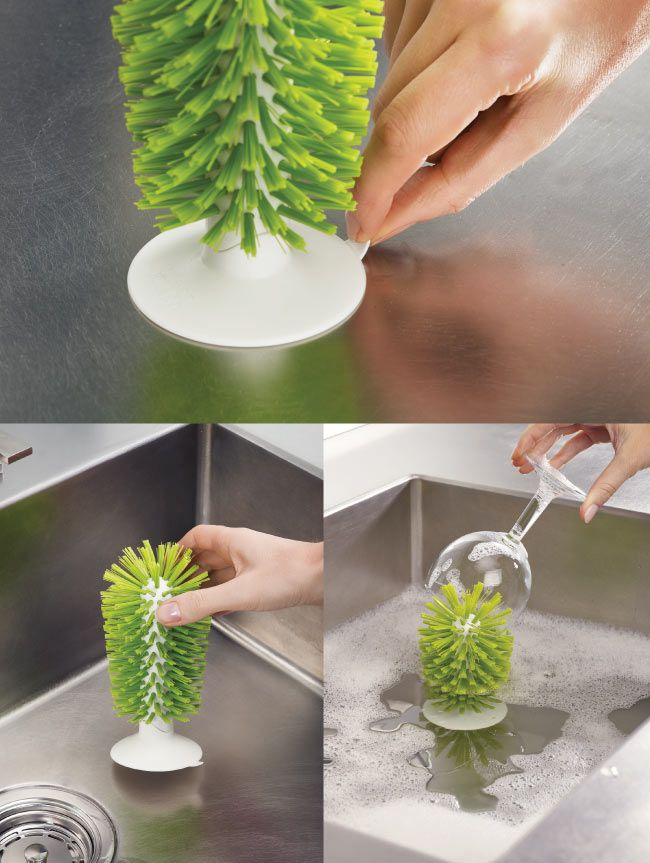 Joseph Joseph 杯壺清潔刷立座(綠)3