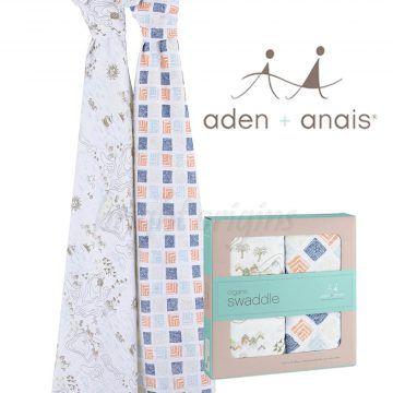 Aden + Anais 有機棉包巾(二入裝) 地平線9501