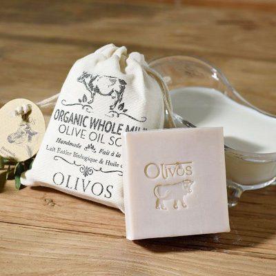 OLIVOS 奧莉芙的橄欖 有機全脂牛奶嫩白橄欖皂 150g