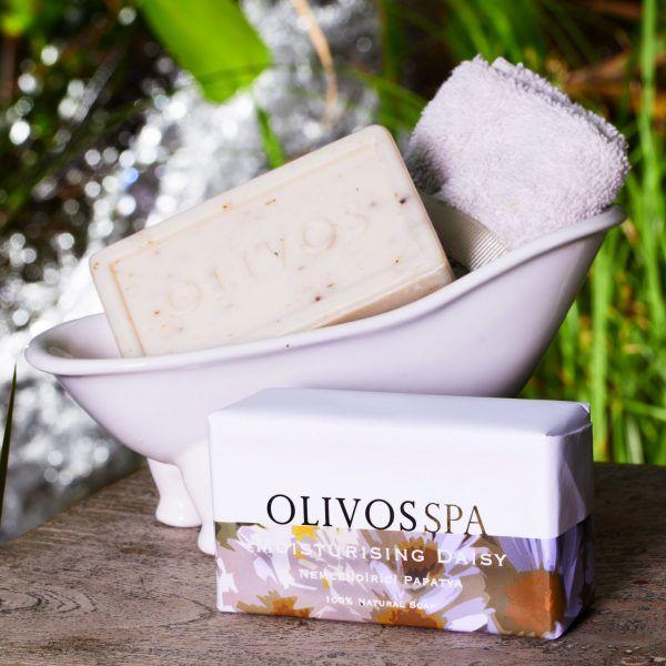 OLIVOS 奧莉芙的橄欖-SPA紓壓-亮白緊緻雛菊橄欖皂250g