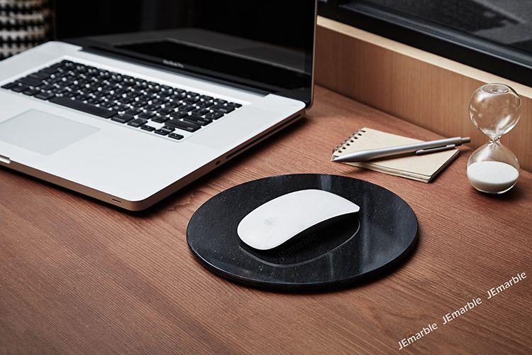 JEmarble 天然大理石超薄滑鼠墊 / 圓盤