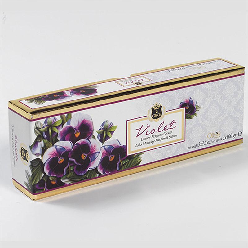 OLIVOS 奧莉芙的橄欖 紫羅藍煥膚橄欖皂禮盒