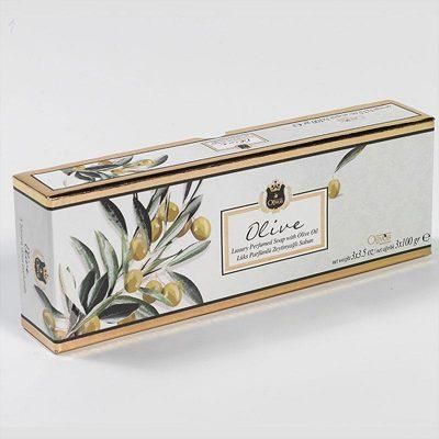OLIVOS 奧莉芙的橄欖 橄欖葉嫩膚橄欖皂禮盒 (100g*3入)