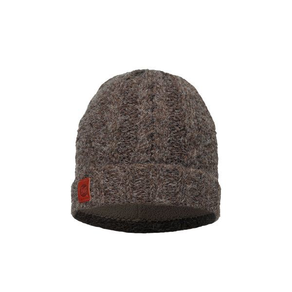 BUFF-Lifestyle-AMBY-針織POLAR保暖帽(棕)