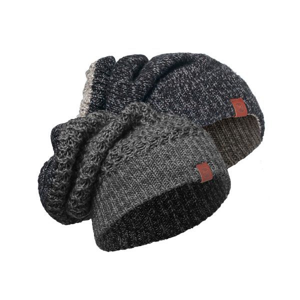 BUFF-Lifestyle-DEAN-針織保暖領巾帽(灰)