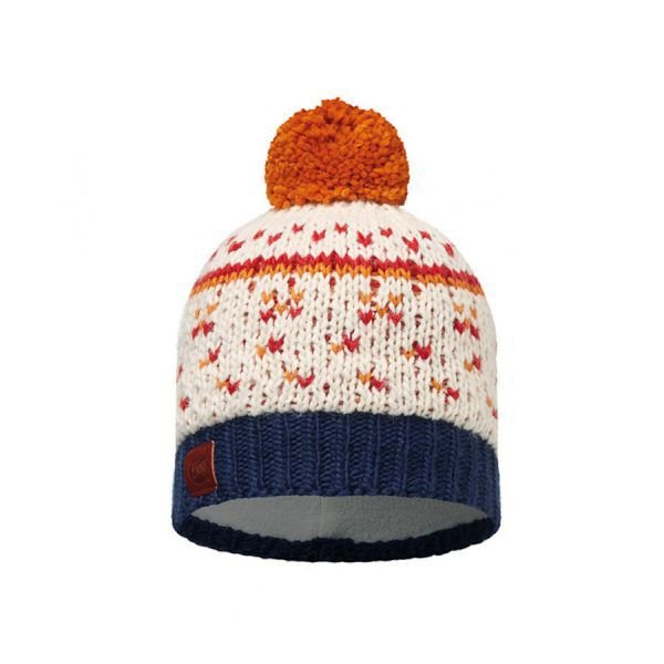 BUFF-Lifestyle-ETHEL-針織POLAR保暖毛球帽(白)