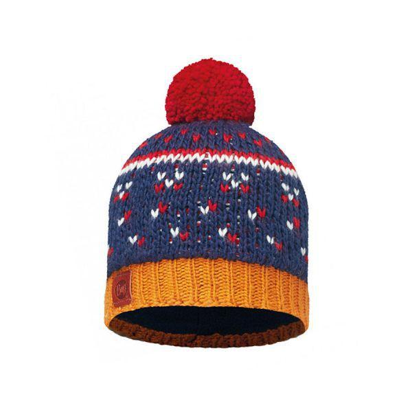 BUFF-Lifestyle-ETHEL-針織POLAR保暖毛球帽(藍)