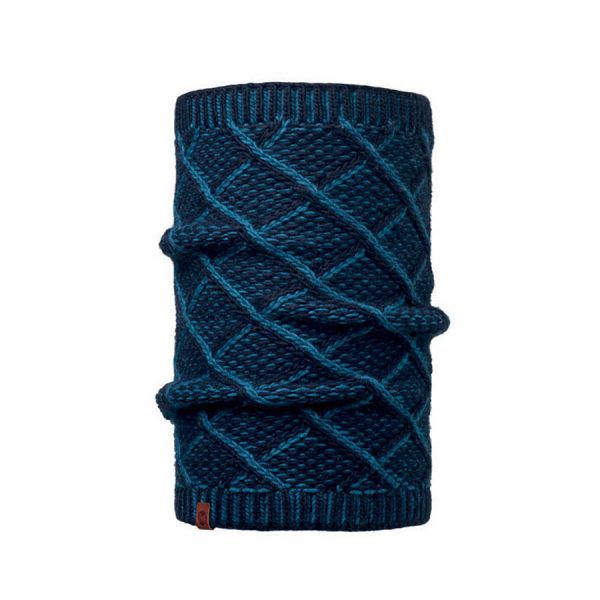 BUFF-Lifestyle-PLAID-針織保暖領巾(藍)