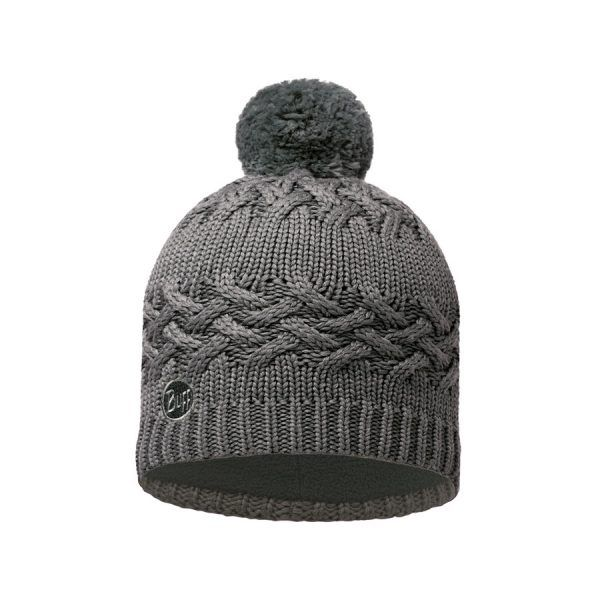 BUFF-Lifestyle-SAVVA-針織POLAR保暖毛球帽(灰)