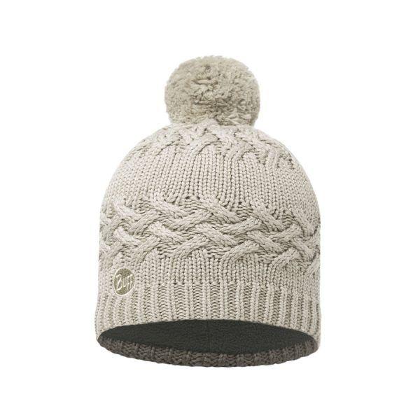 BUFF-Lifestyle-SAVVA-針織POLAR保暖毛球帽(白)