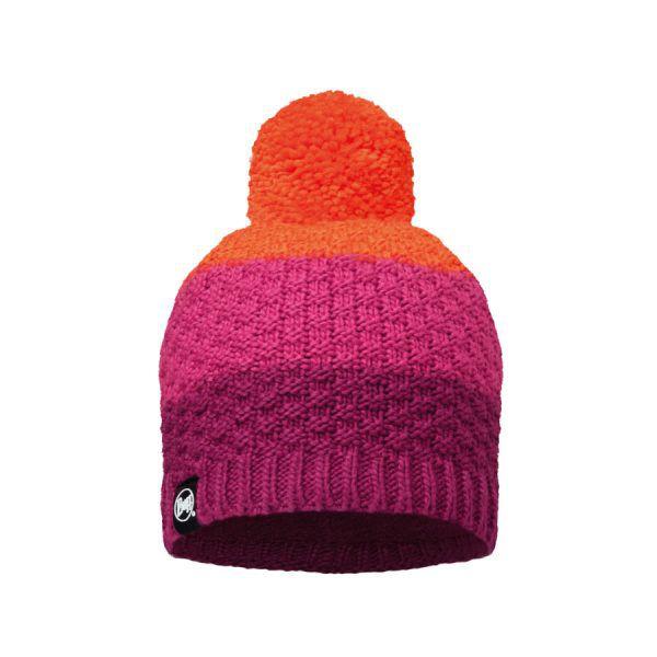 BUFF-Lifestyle-TIZZY-針織POLAR保暖毛球帽(紅)