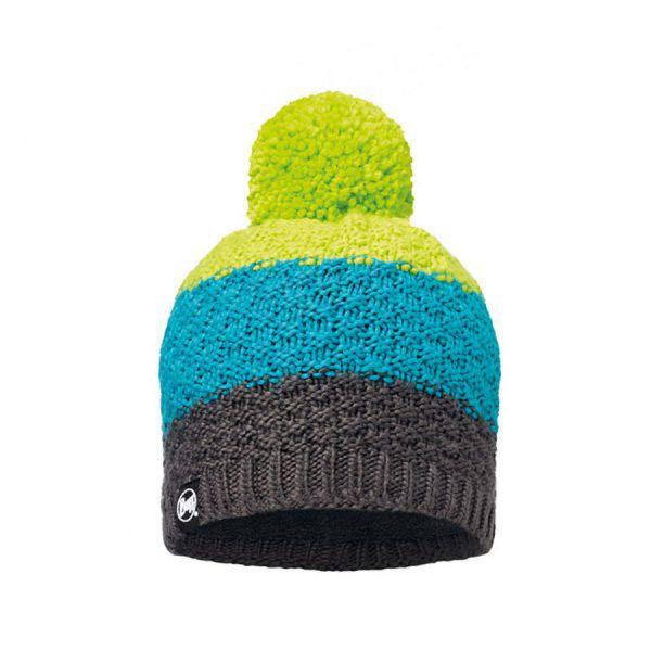 BUFF-Lifestyle-TIZZY-針織POLAR保暖毛球帽(綠)