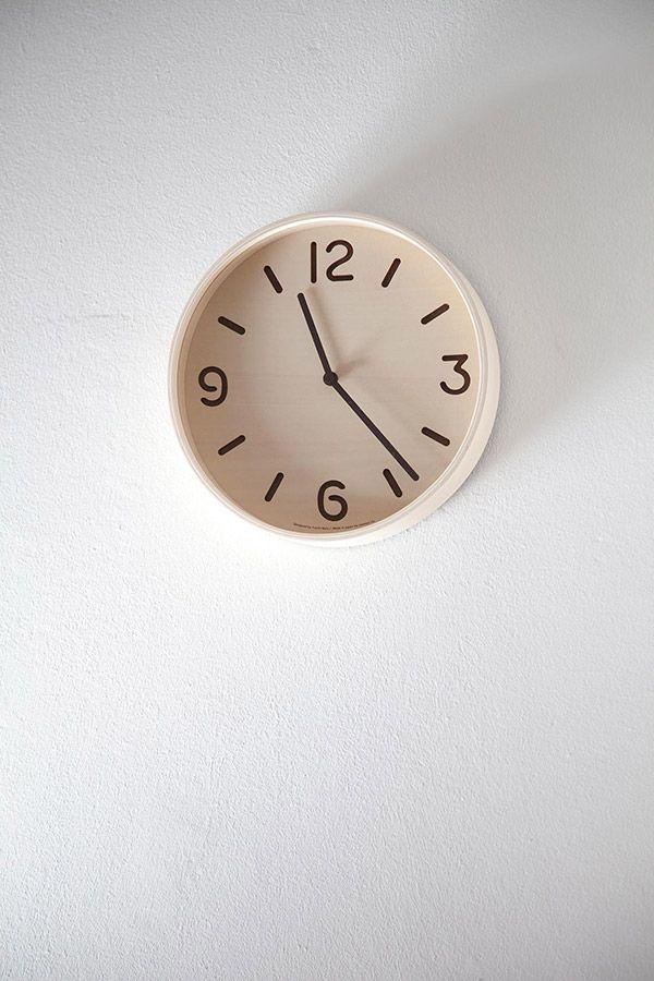 日本 Lemnos 原木數字鏤空鐘 (深褐)3