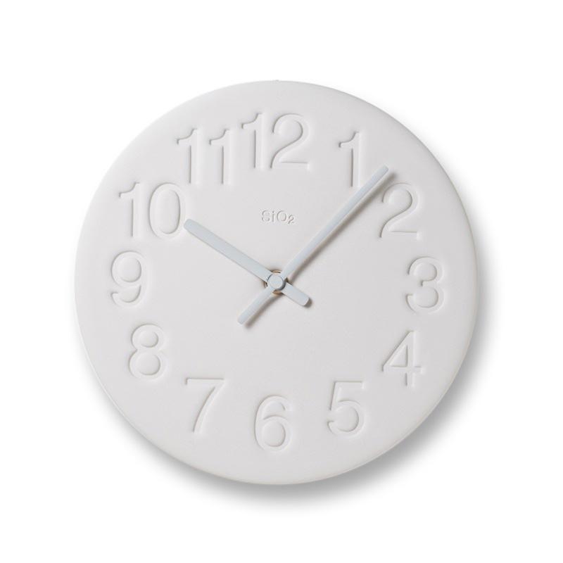 日本 Lemnos 珪藻土時鐘 (白色)1