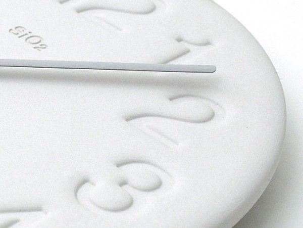 日本 Lemnos 珪藻土時鐘 (白色)600