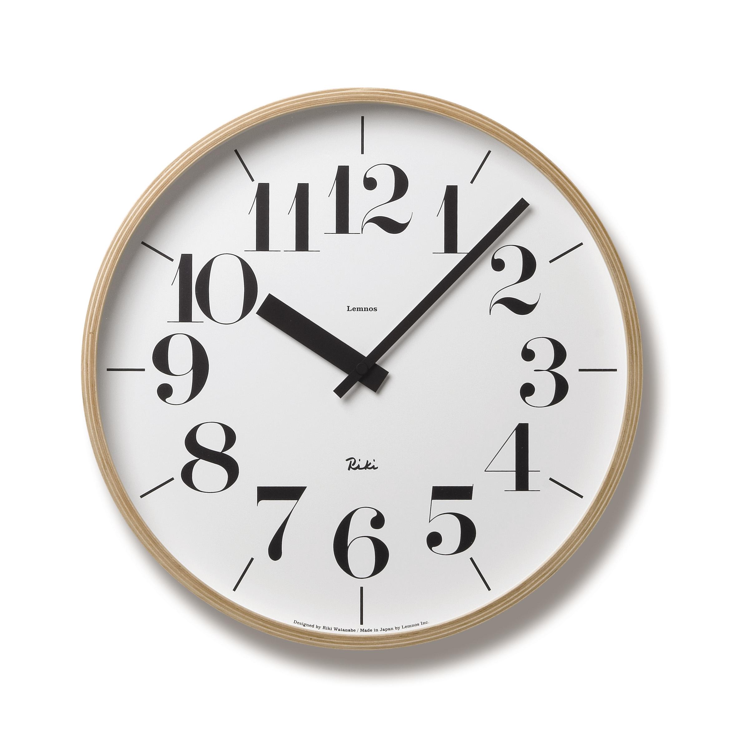 日本 Lemnos 渡邊力木框簡約大字時鐘