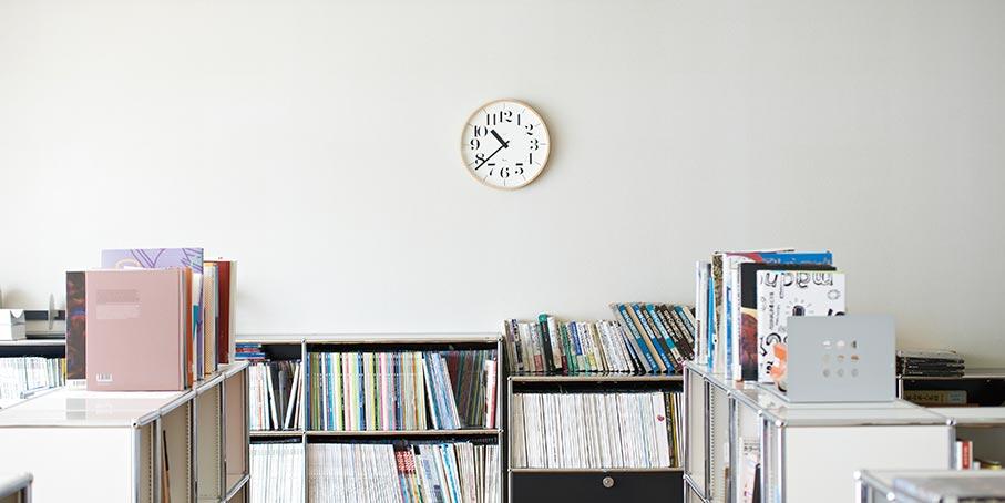 日本 Lemnos 渡邊力木框簡約大字時鐘1
