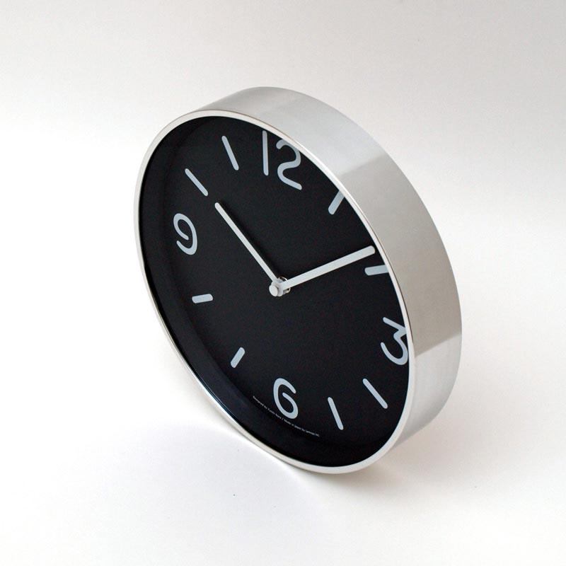 日本 Lemnos 黑白純粹時鐘 (黑)2