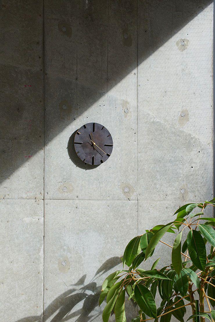 日本 Lemnos 復古銅蝕斑斕大壁鐘 (黑)1
