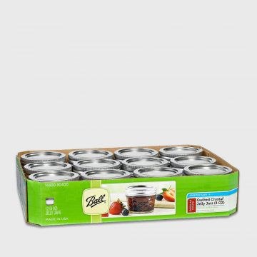Ball梅森罐4oz(菱格窄口罐)單箱12入
