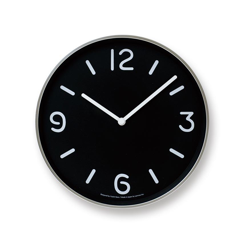日本 Lemnos 黑白純粹時鐘 (黑)1