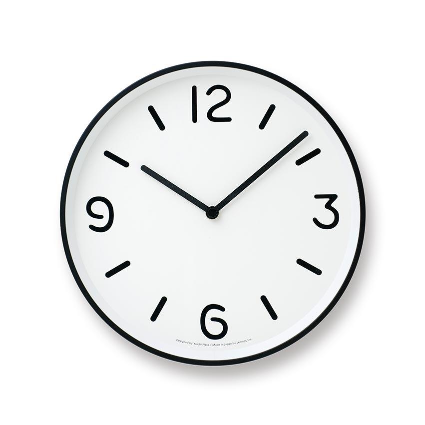 日本 Lemnos 黑白純粹時鐘 (白)