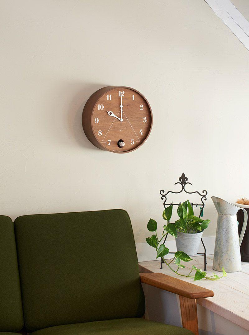 日本 Lemnos 和風圓形咕咕鐘 (棕)2