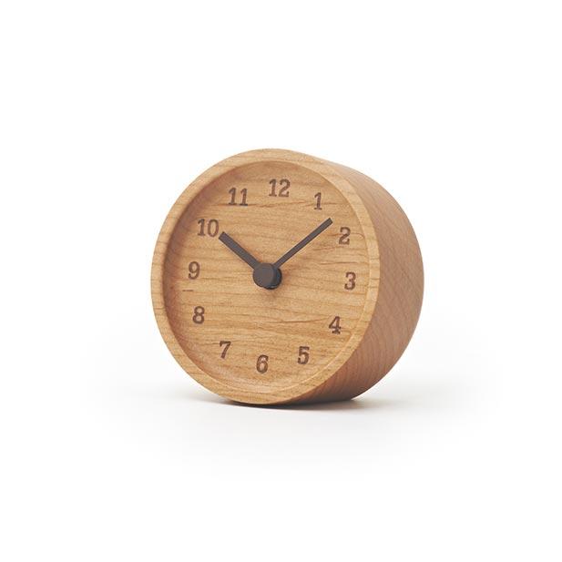 日本 Lemnos 烙印數字桌鐘 (淺褐色)