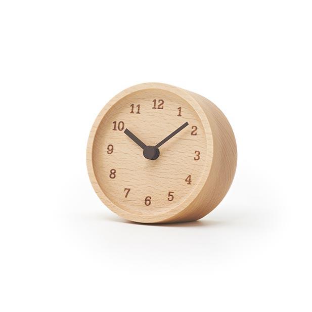 日本 Lemnos 烙印數字桌鐘 (原木色)1