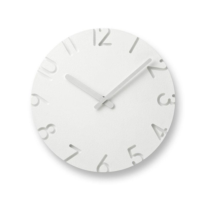 日本 Lemnos 雕刻時鐘 數字款 (小)